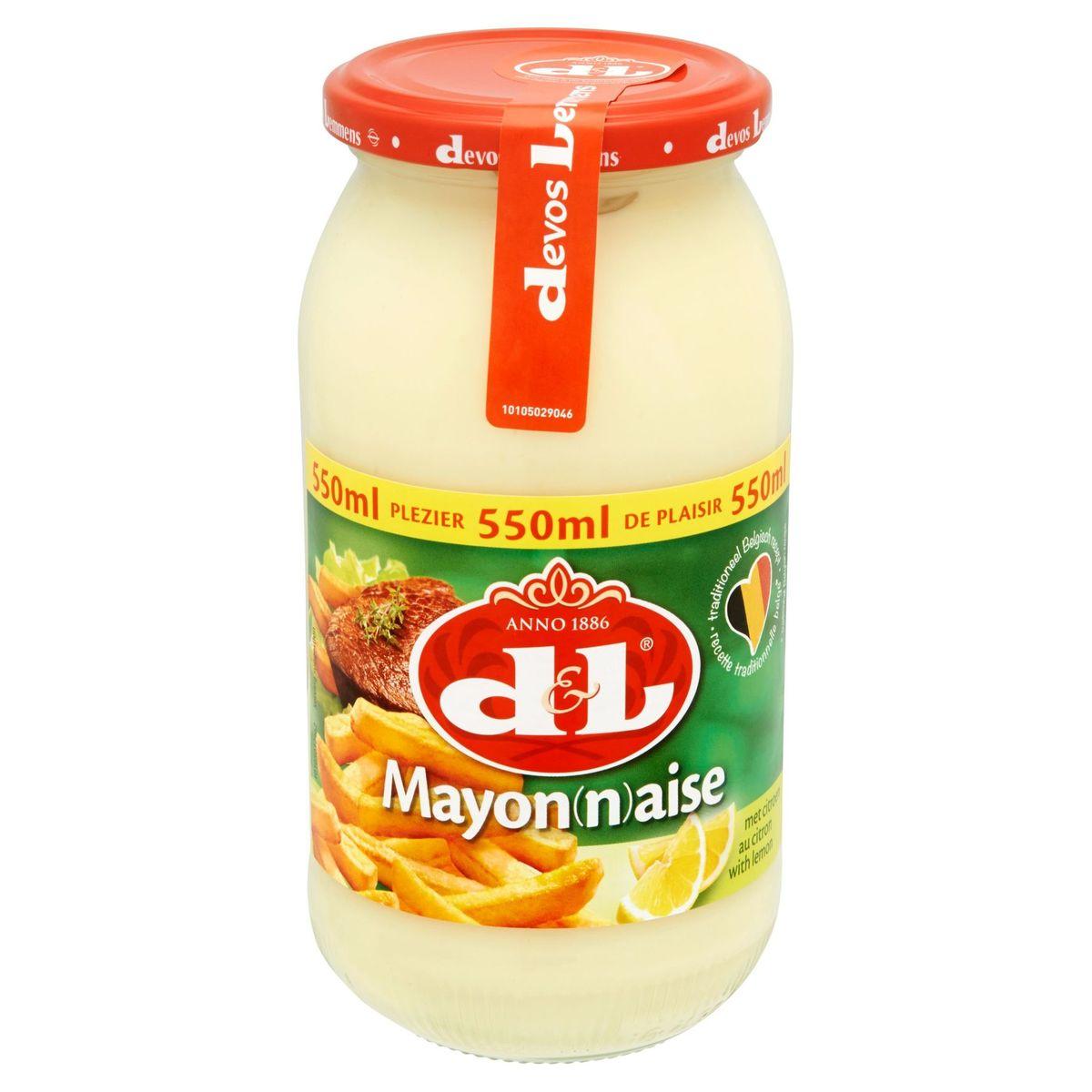 Devos Lemmens Mayonaise met Citroen 550 ml