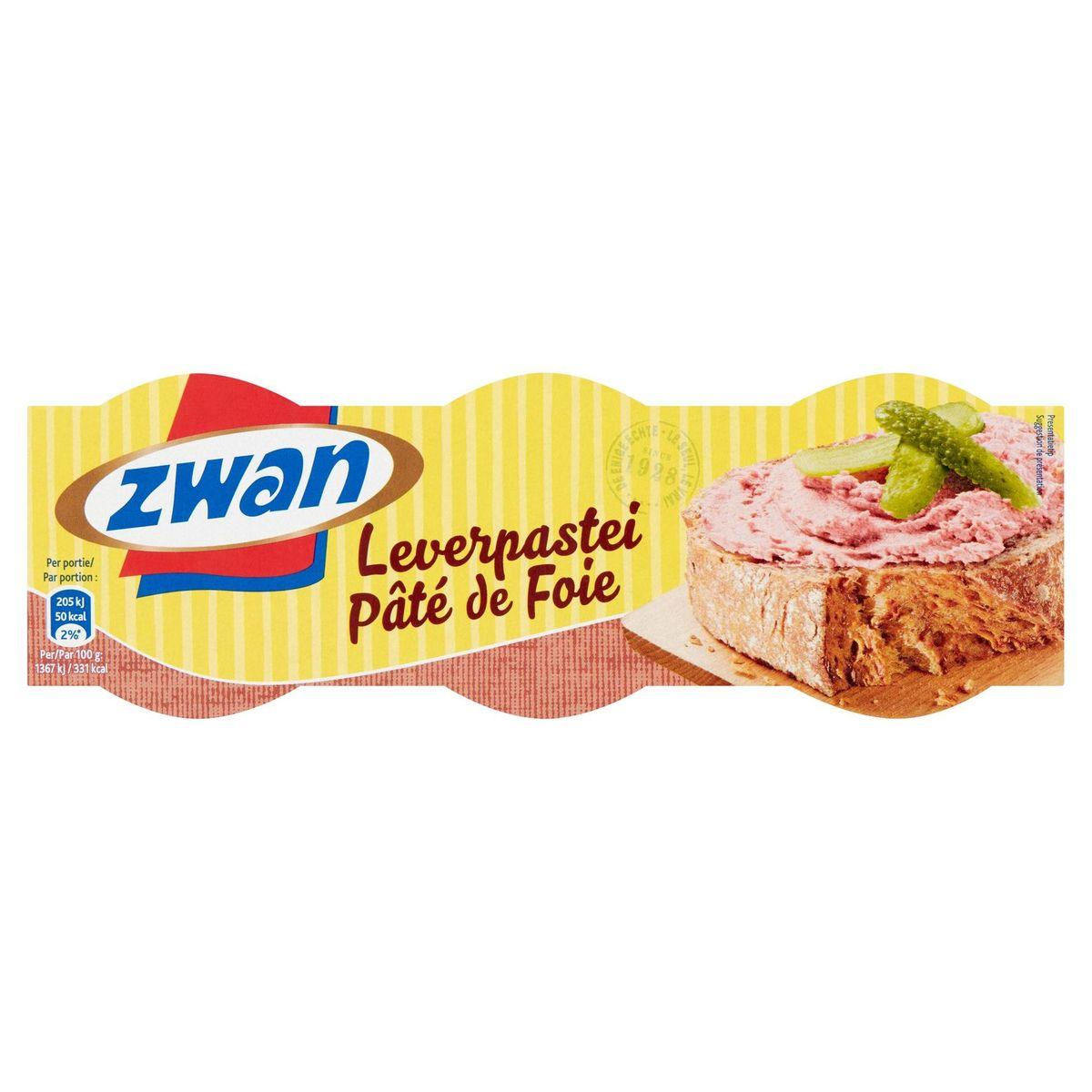 Zwan Pâté de Foie 3 x 43 g