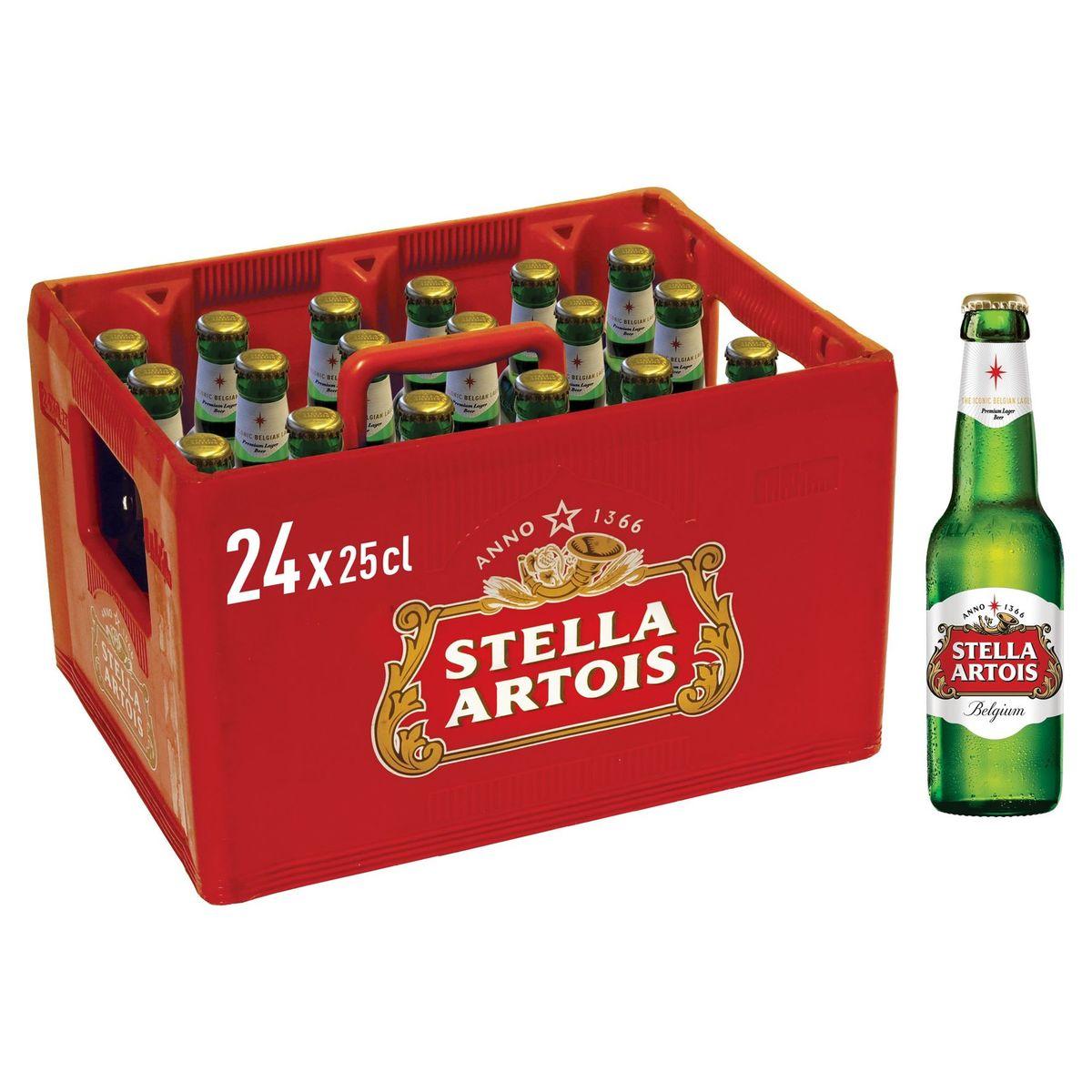 Stella Artois Belgium Premium Lager Beer Krat 24 x 25 cl