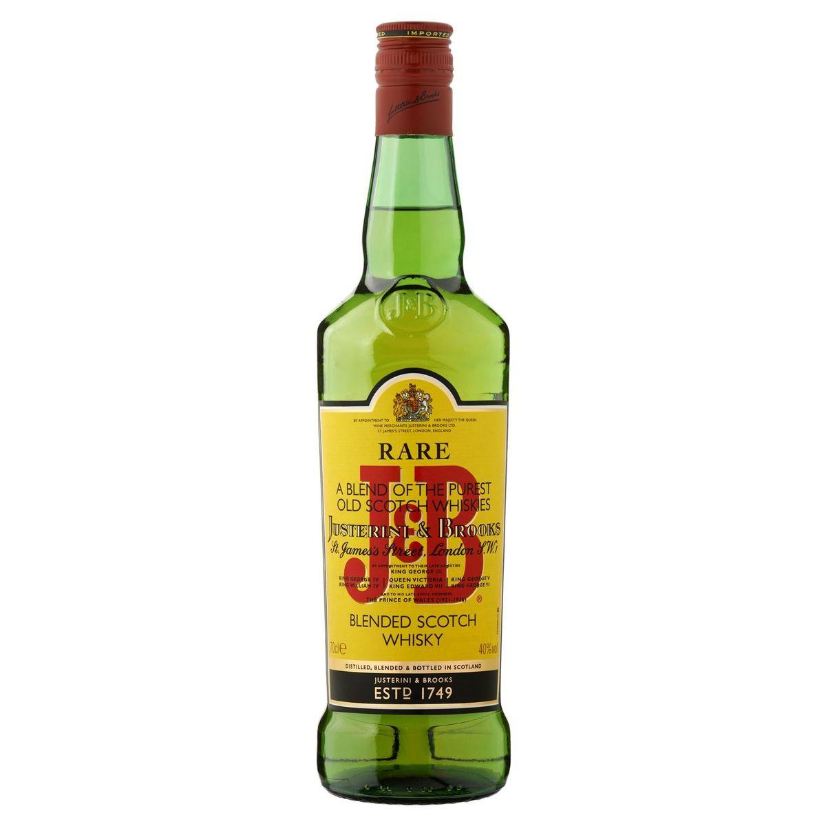 J&B Rare Blended Scotch Whisky 70 cl