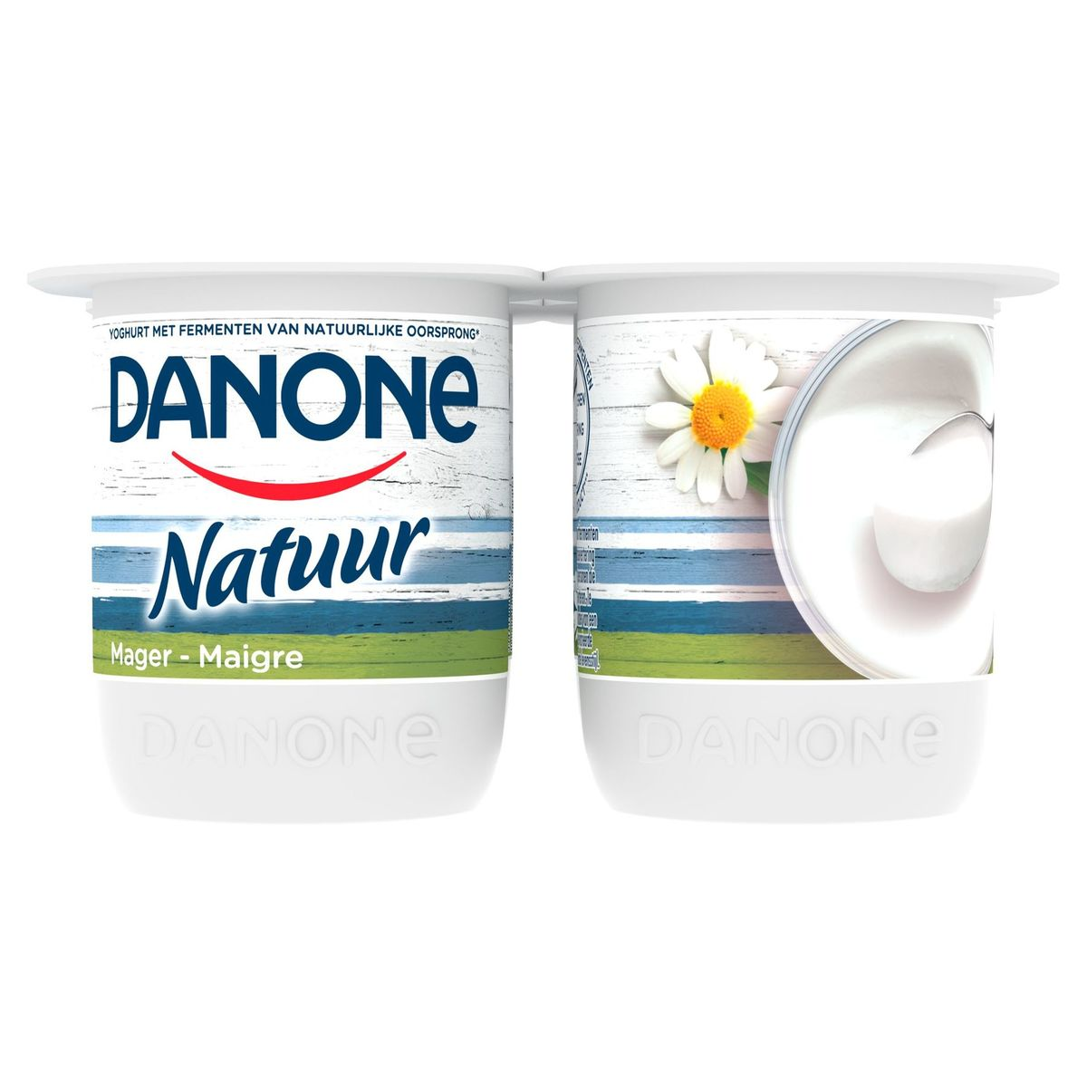 Danone Nature Yaourt Maigre 4 x 125 g