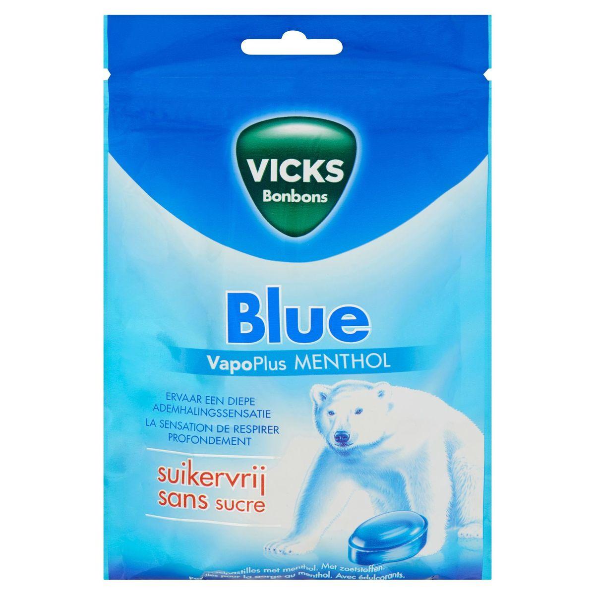 Vicks Bonbons Blue VapoPlus Menthol 72 g