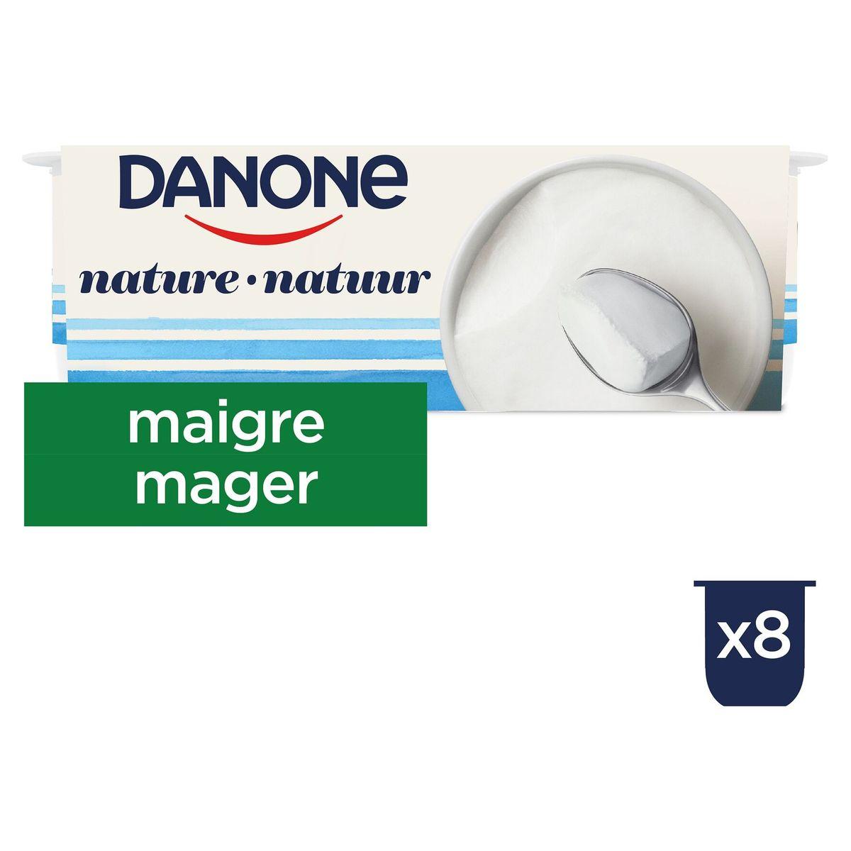 Danone Nature Yaourt Maigre 8 x 125 g