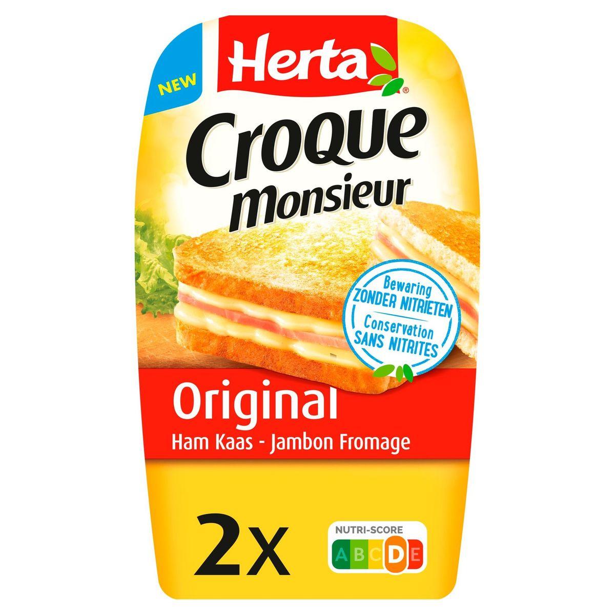 Herta Croque Monsieur Original Jambon Fromage 200 g