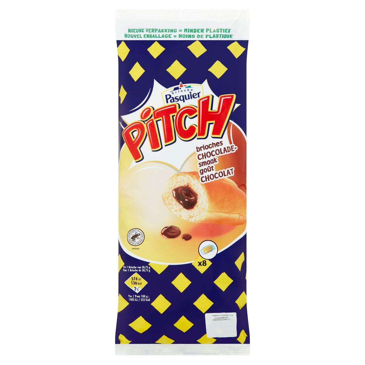 Brioche Pasquier Pitch Brioches Fourrage Goût Chocolat 8 x 38.75 g