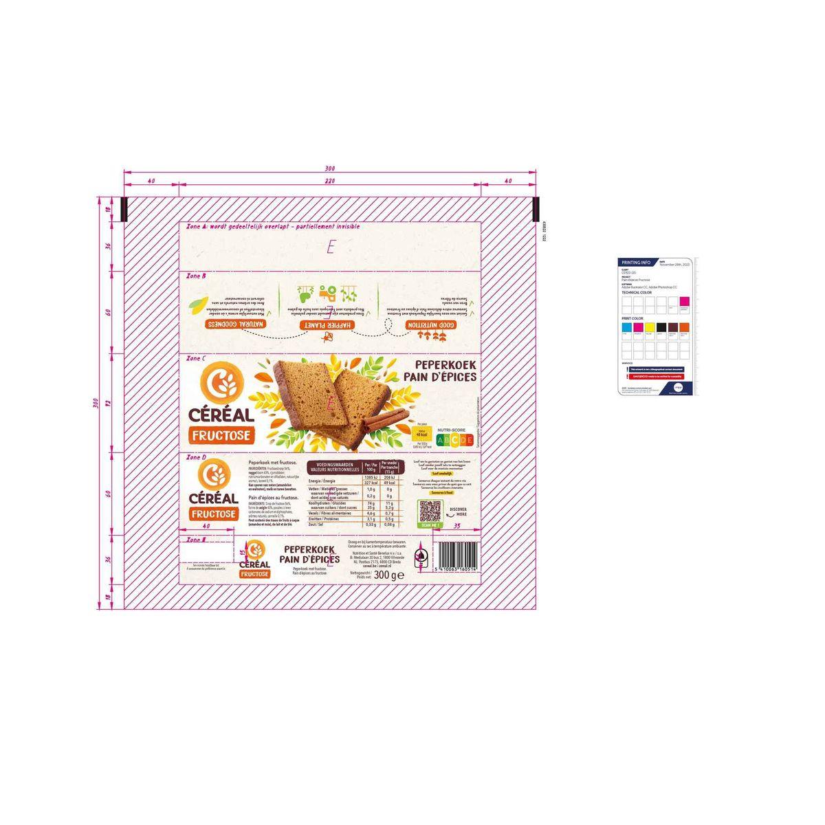 Céréal Peperkoek Fructose 300 g