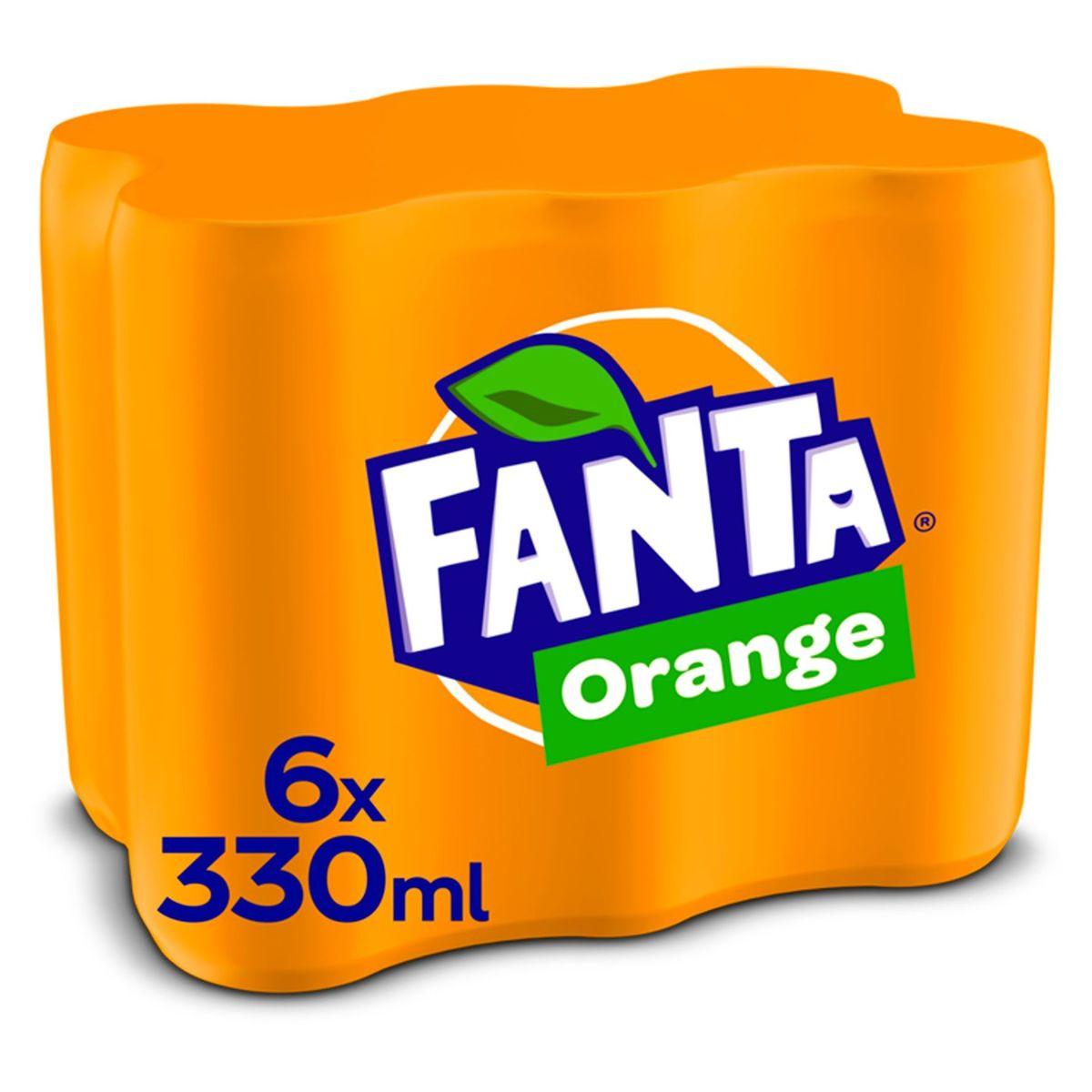 Fanta Orange Canette 6 x 330 ml
