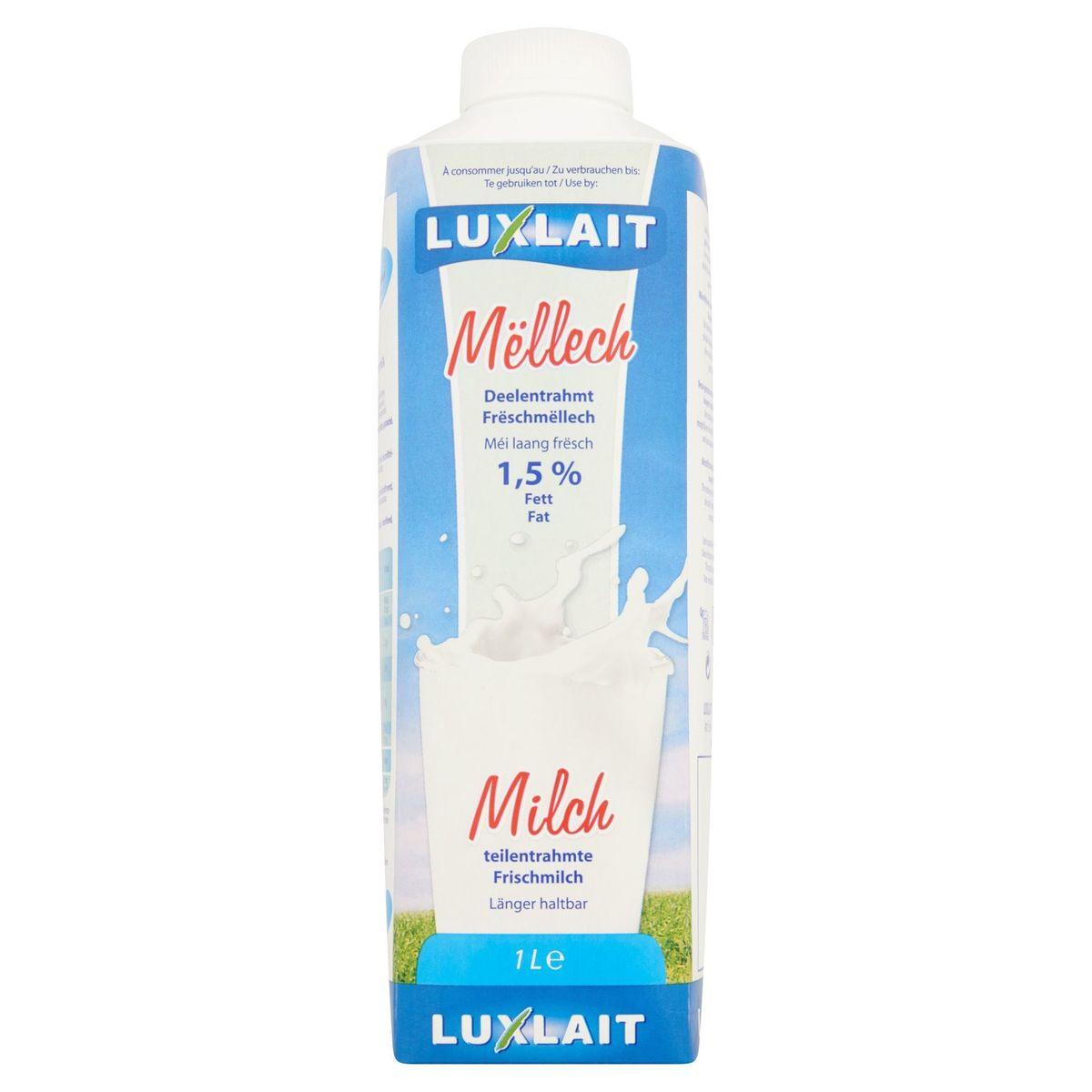 Luxlait Lait Frais Demi-Écrémé 1.5% M.G. 1 L