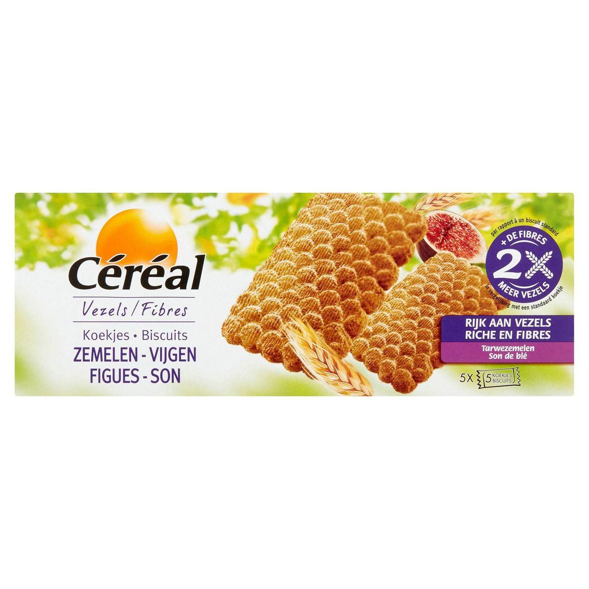 Céréal Vezels Koekjes Zemelen-Vijgen 5 x 5 Stuks 210 g