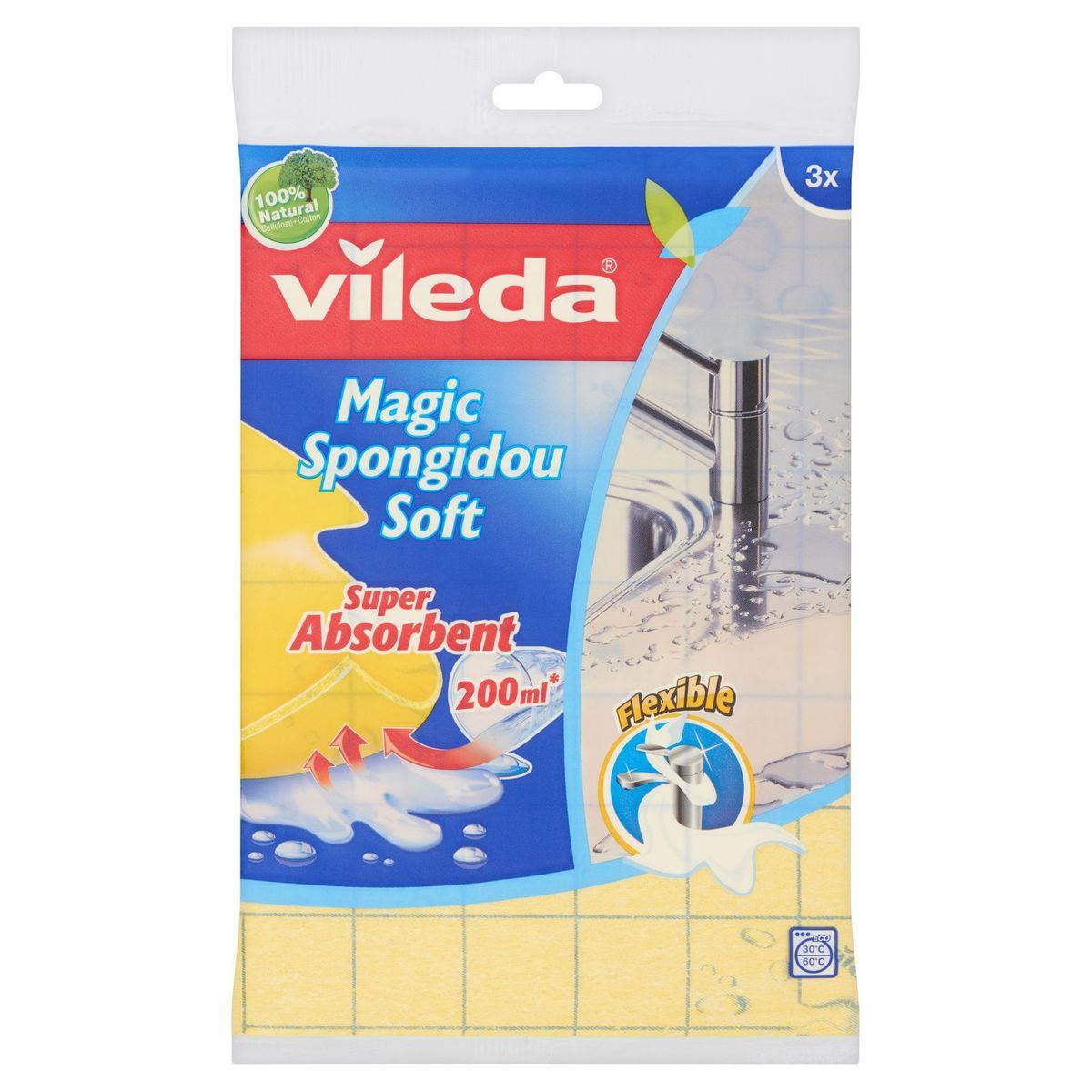 Vileda Sponsdoek Magic Spongidou Soft 3 Stuks