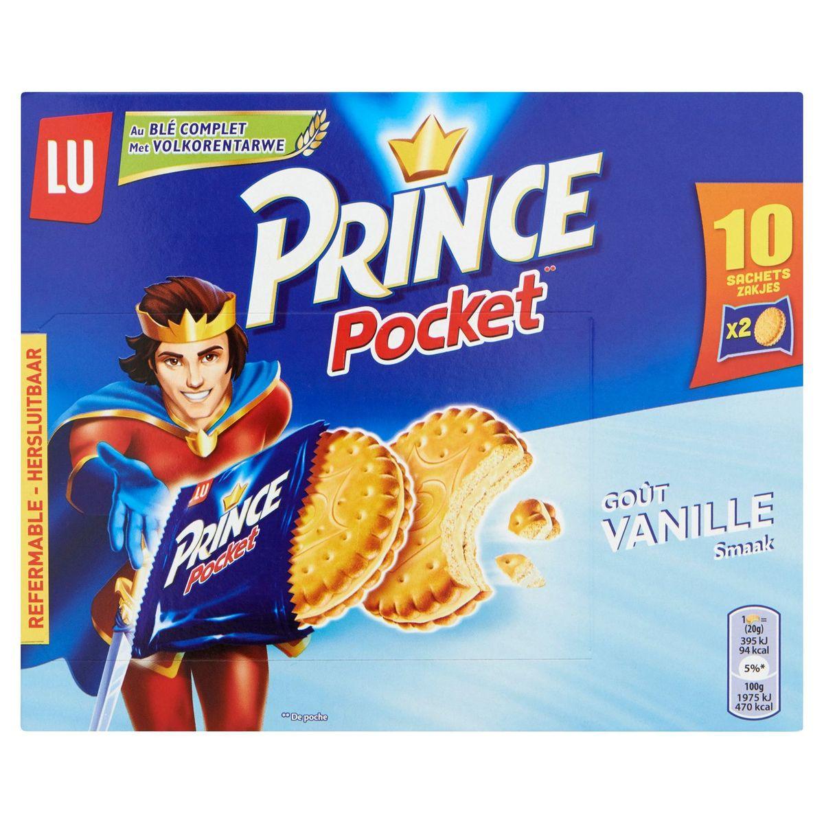 LU Prince Pocket Goût Vanille 10 x 40 g