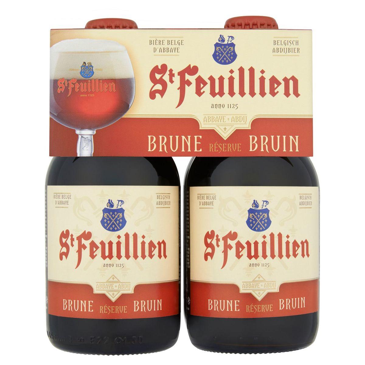 St Feuillien Belgisch Abdijbier Bruin Flessen 4 x 33 cl