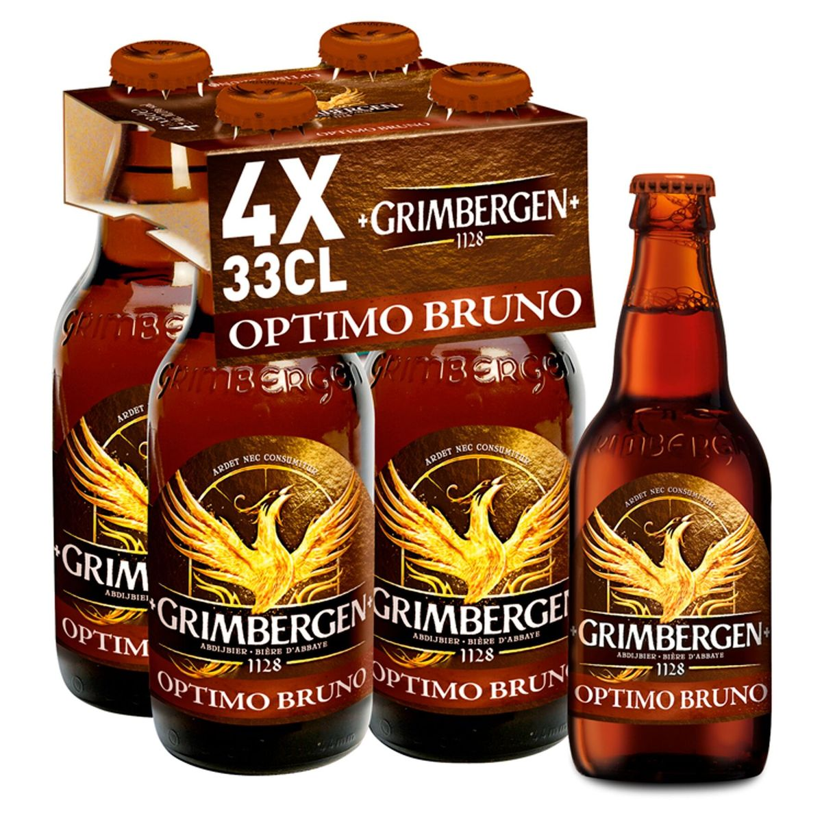 Grimbergen Abdijbier Optimo bruno 10% ALC 4x33cl Fles