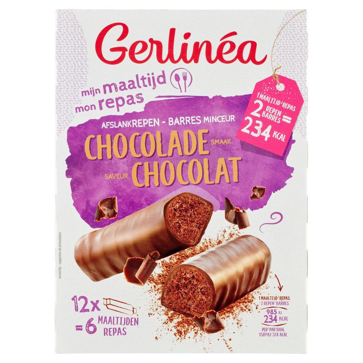 Gerlinéa Mon Repas Barres Minceur Saveur Chocolat 12 x 31 g