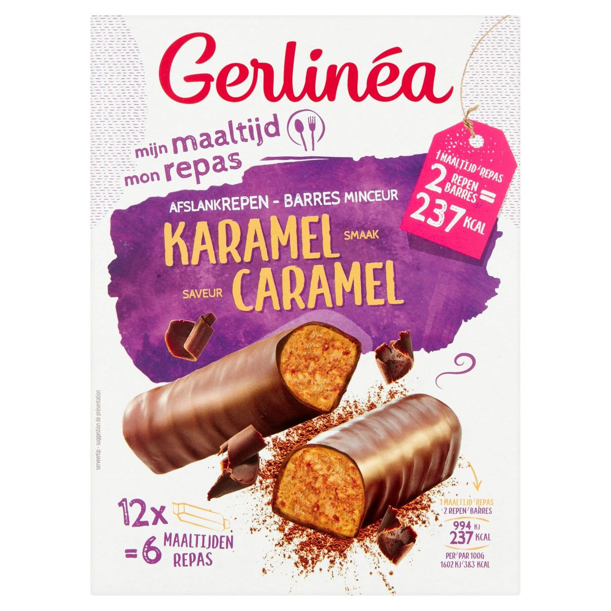 Gerlinéa Mon Repas Barres Minceur Saveur Caramel 12 x 31 g