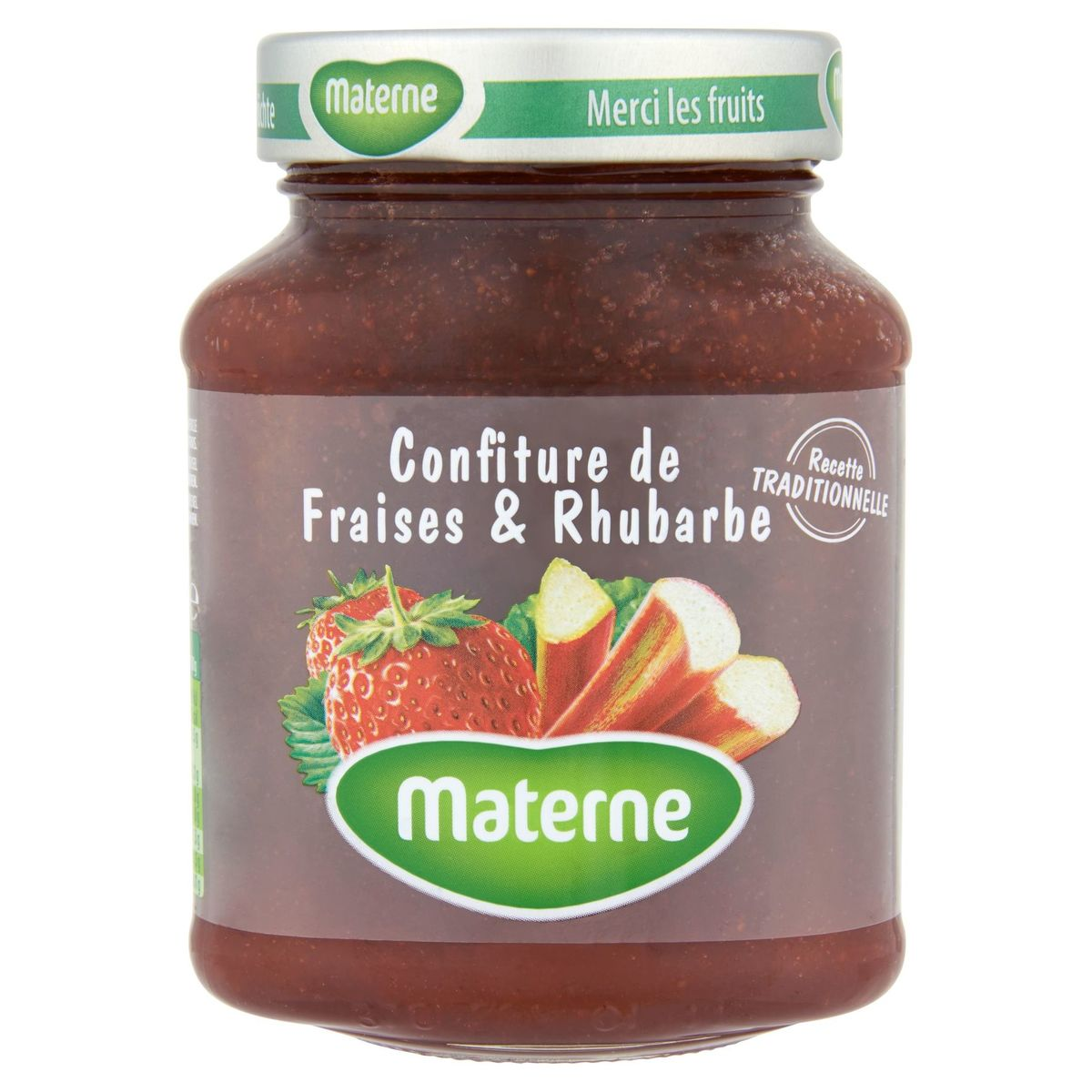 Materne Aardbeien Rabarberconfituur 450 g