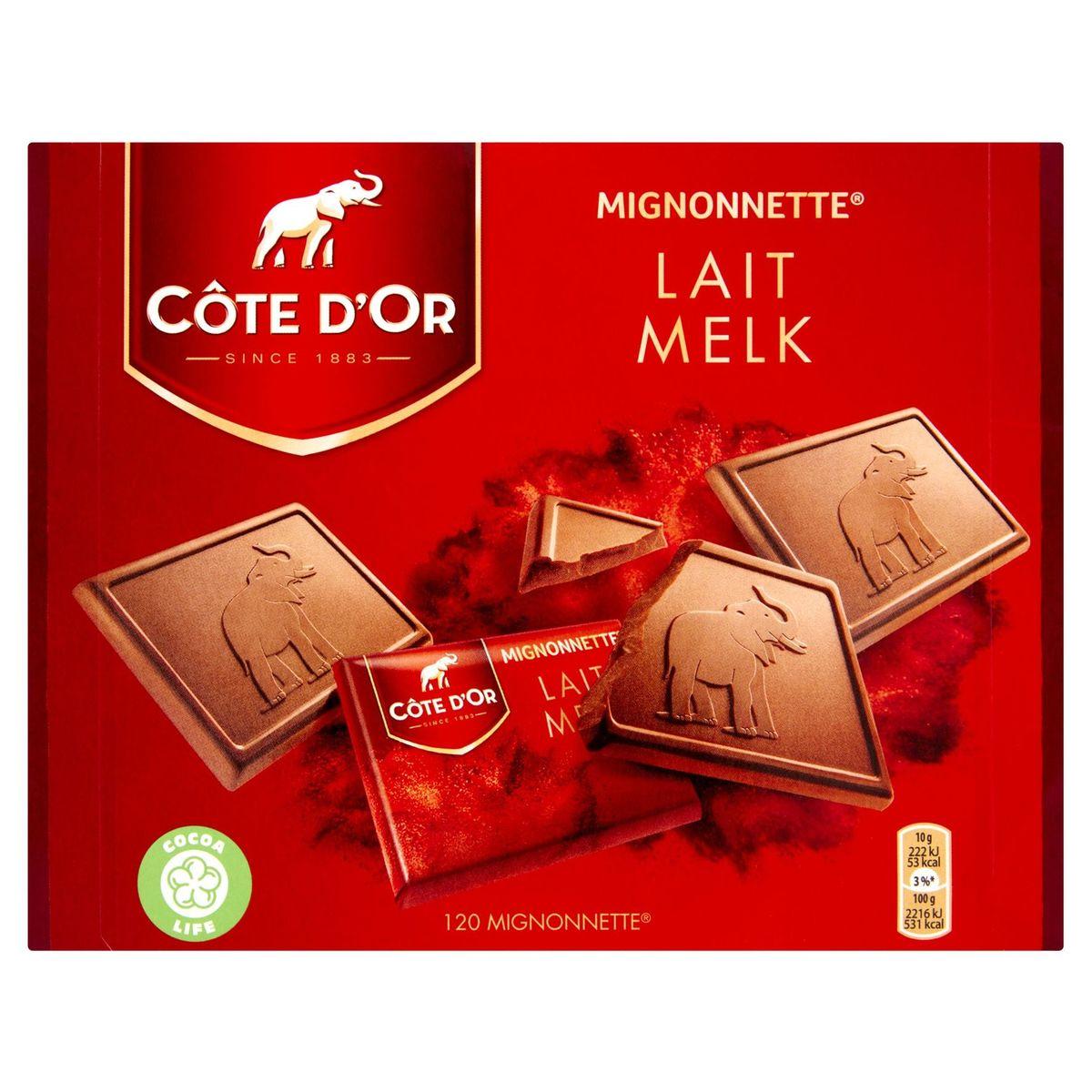 Côte d'Or Mignonnette Lait 120 Pièces 1200 g