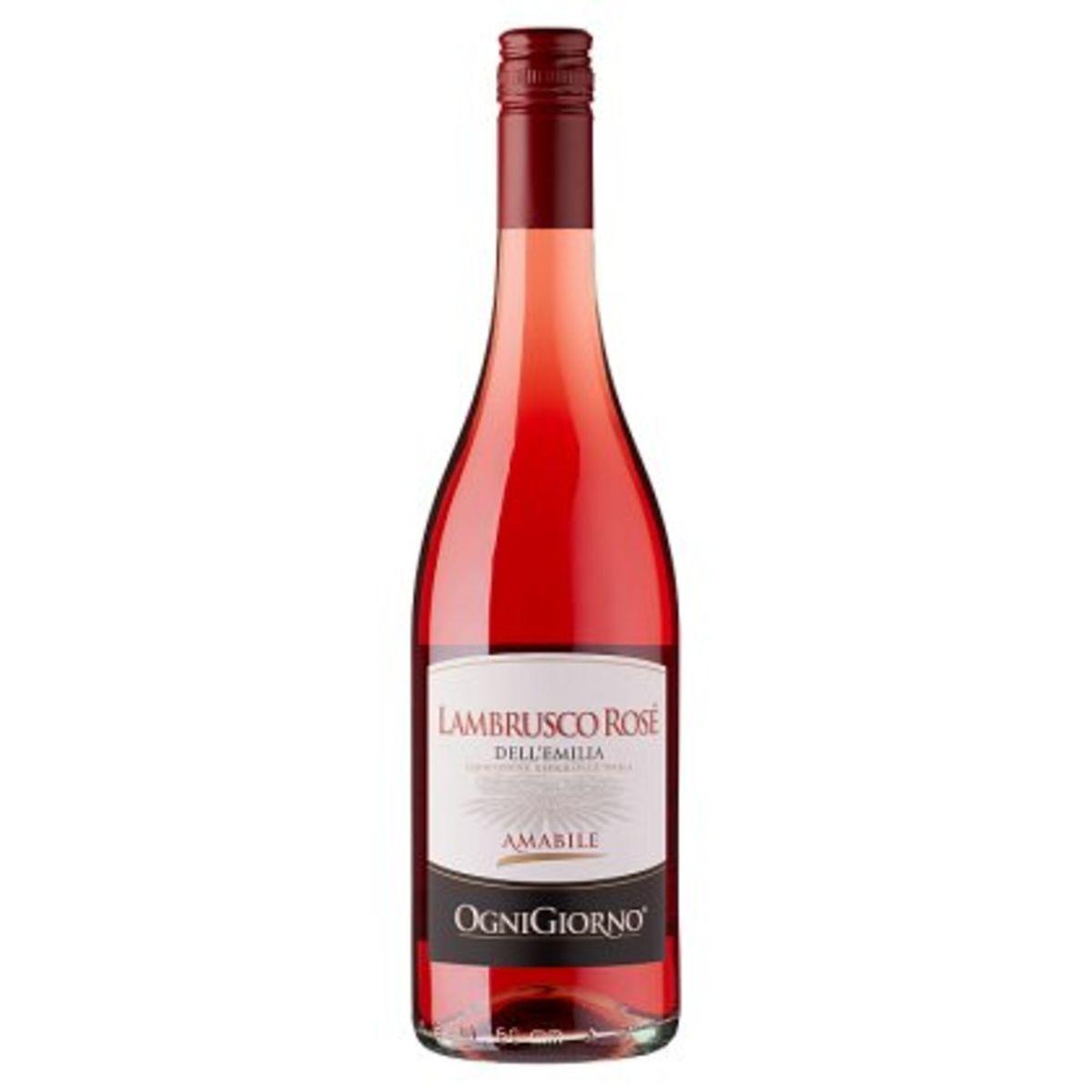Ognigiorno Lambrusco Rosé dell'Emilia Amabile 750 ml