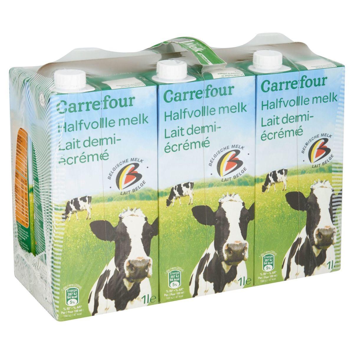 Carrefour Halfvolle Melk 6 x 1 L