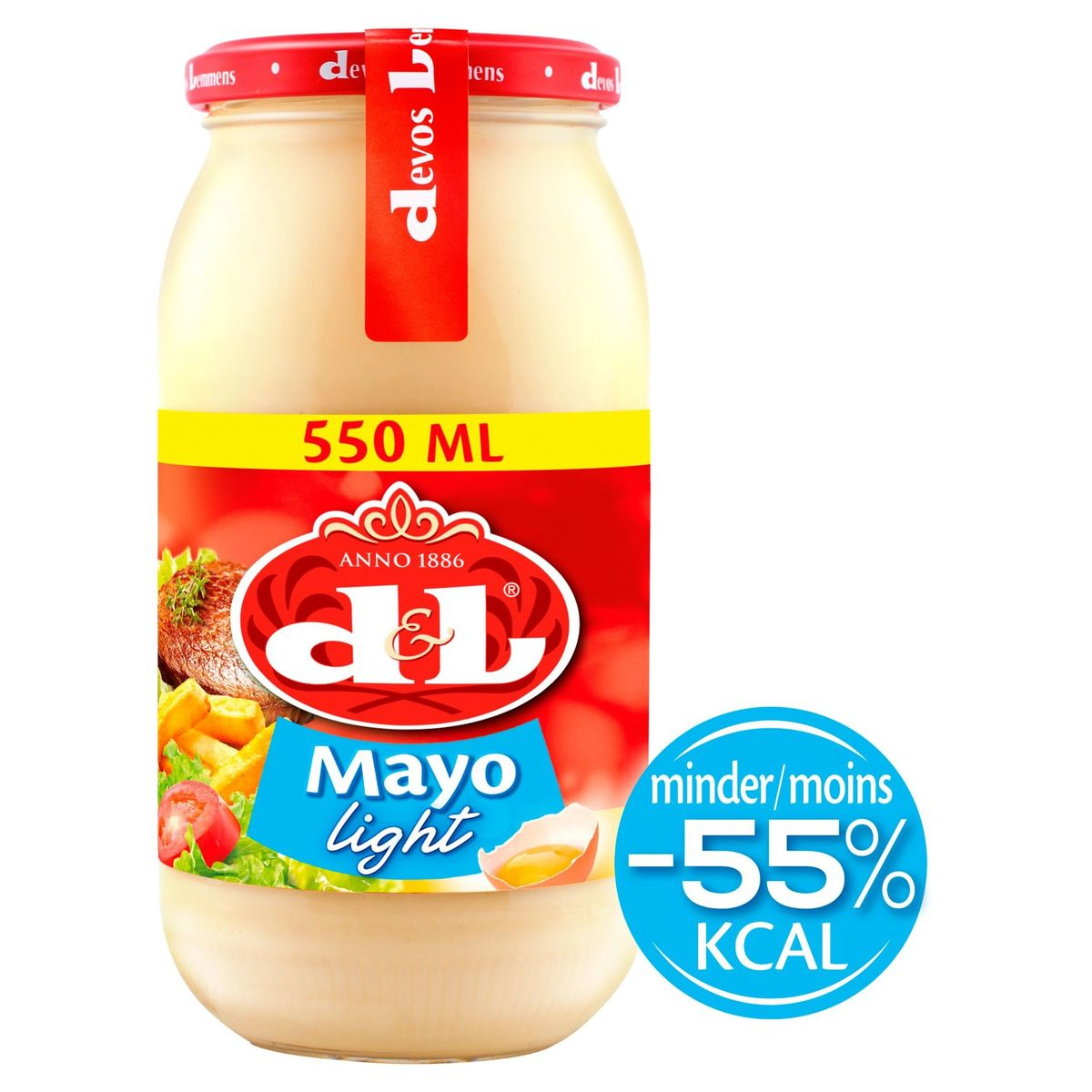 Devos Lemmens Mayo Light aux Œufs 550 ml