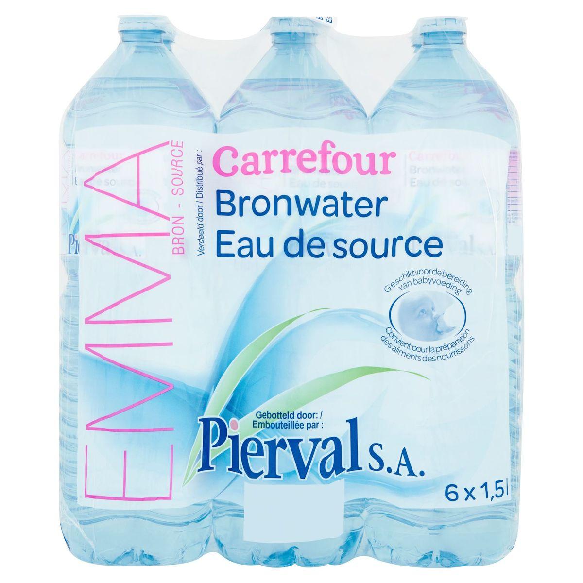 Carrefour Pierval Eau de Source 6 x 1.5 L