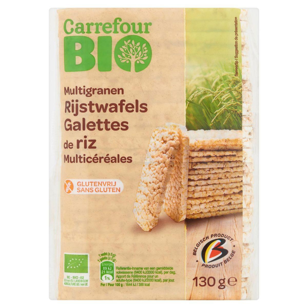 Carrefour Bio Multigranen Rijstwafels 130 g