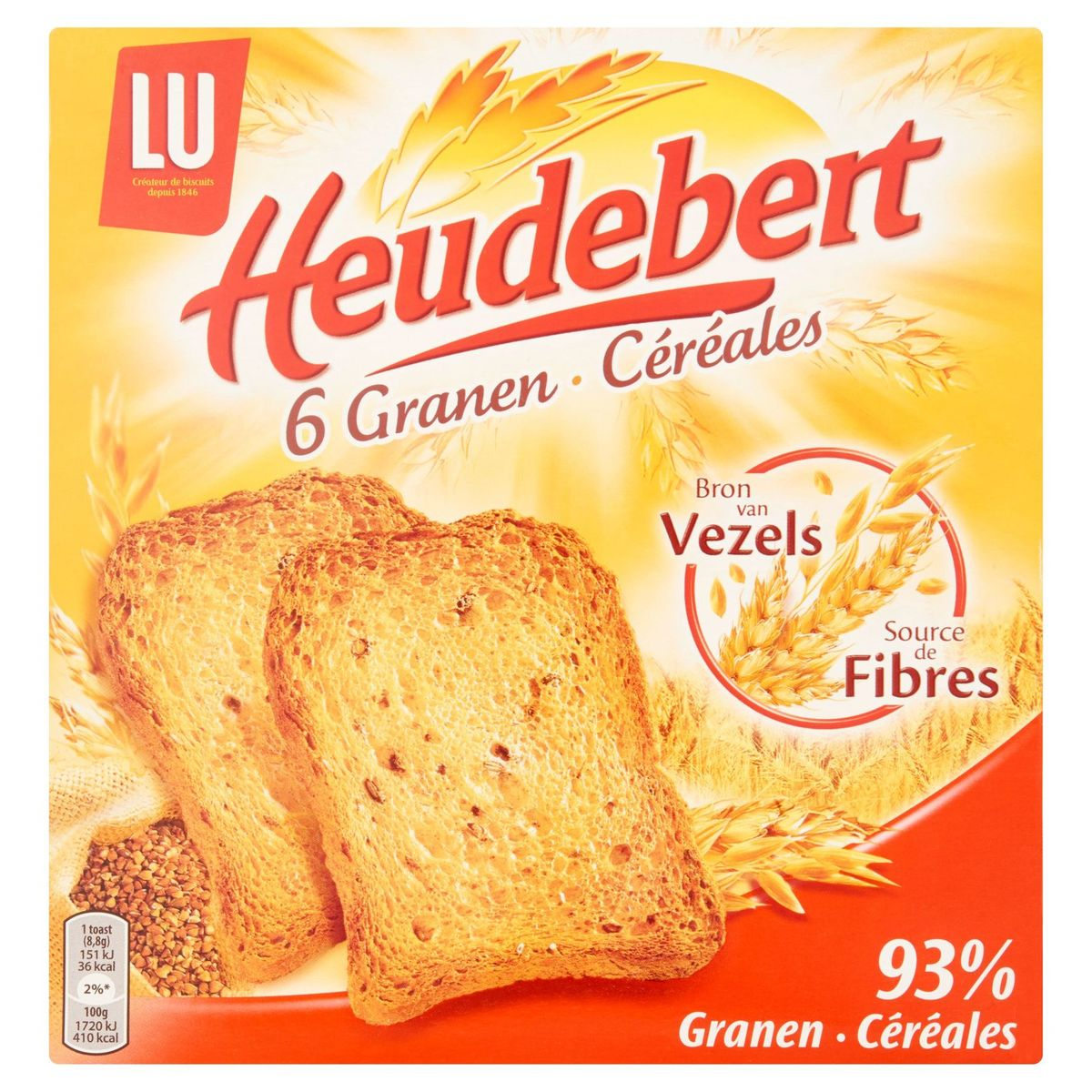 Heudebert 6 Céréales 2 Sachets Fraîcheur 300 g