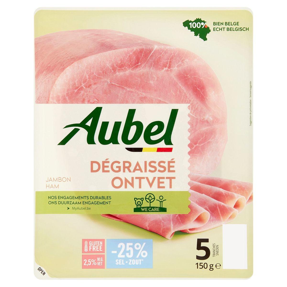 Aubel Jambon Dégraissé 5 Tranches 150 g
