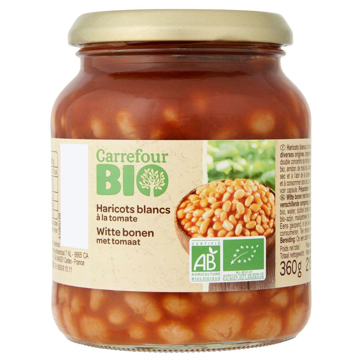 Carrefour Bio Haricots Blancs à la Tomate 360 g