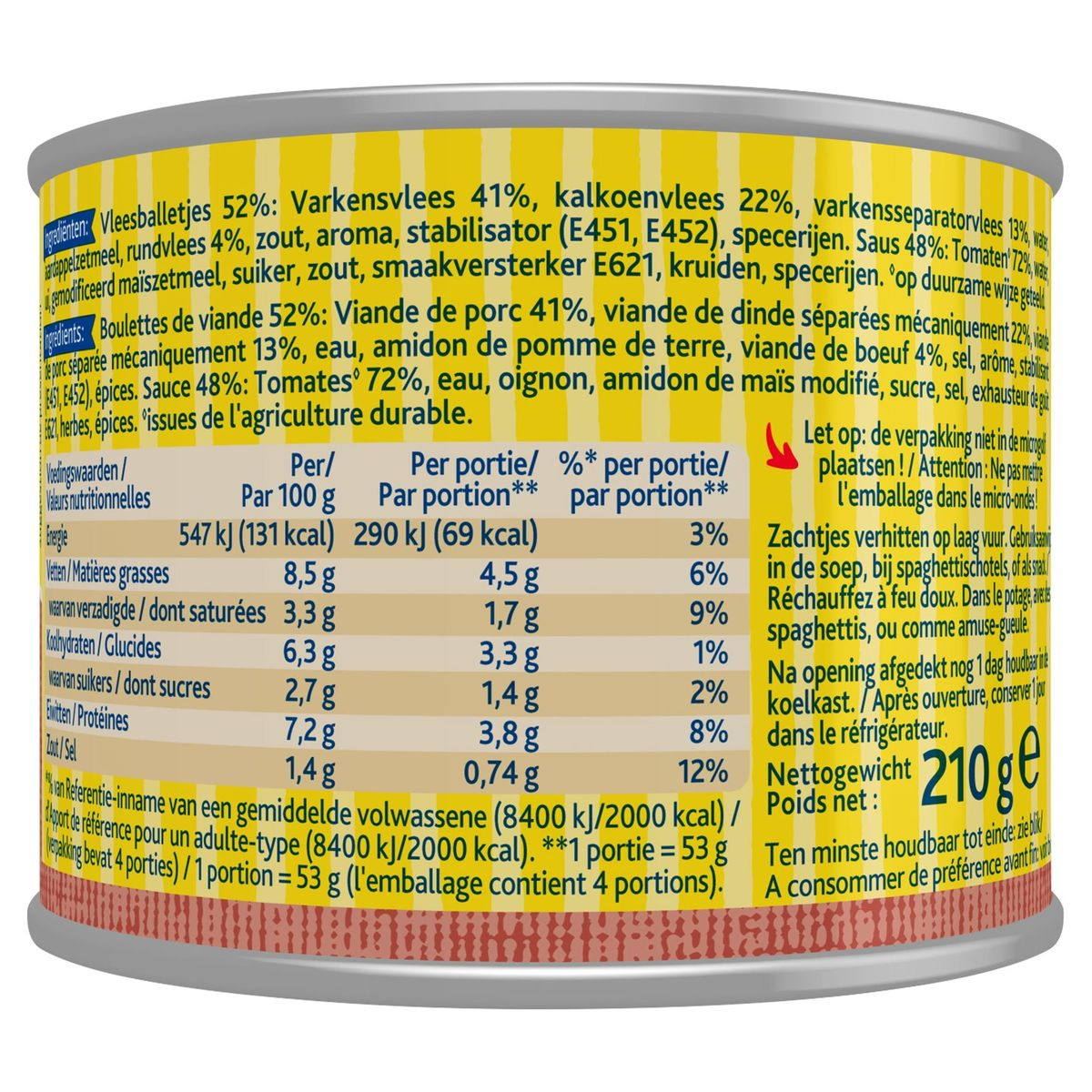 Zwan Vleesballetjes met Tomatensaus 210 g