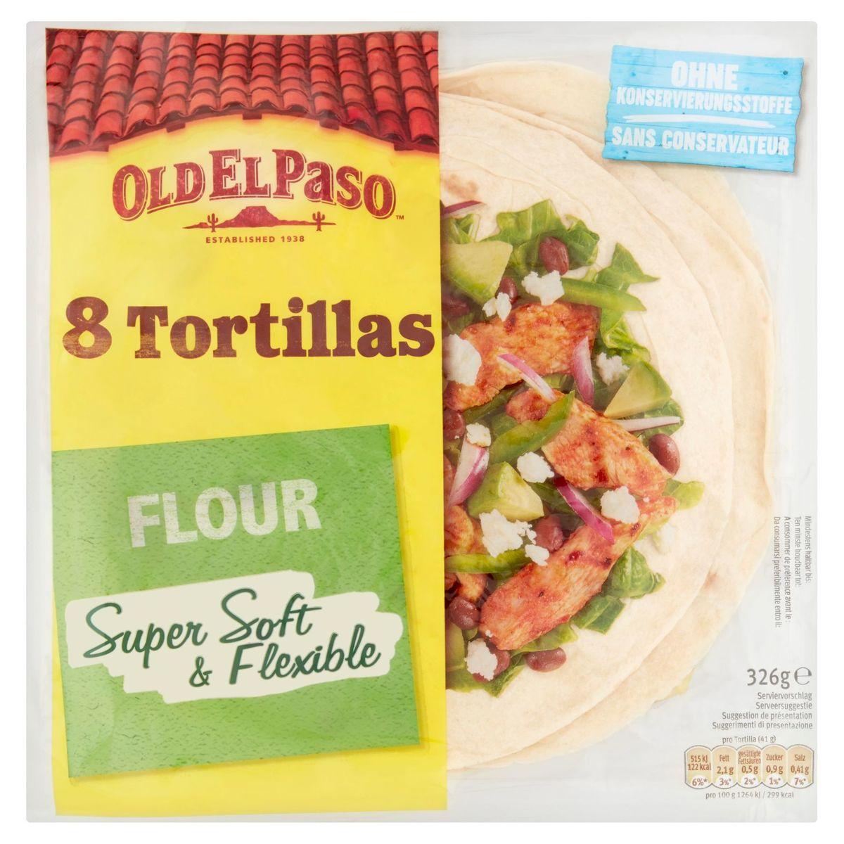 Old El Paso 8 Tortillas Flour 326 g