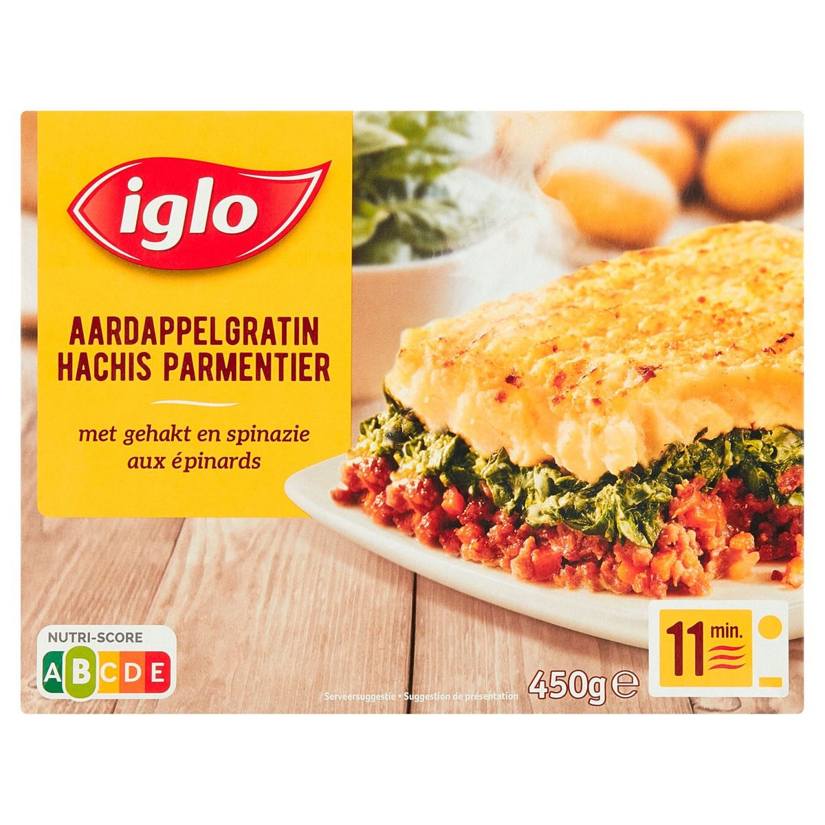 Iglo Hachis Parmentier aux Epinards 450 g