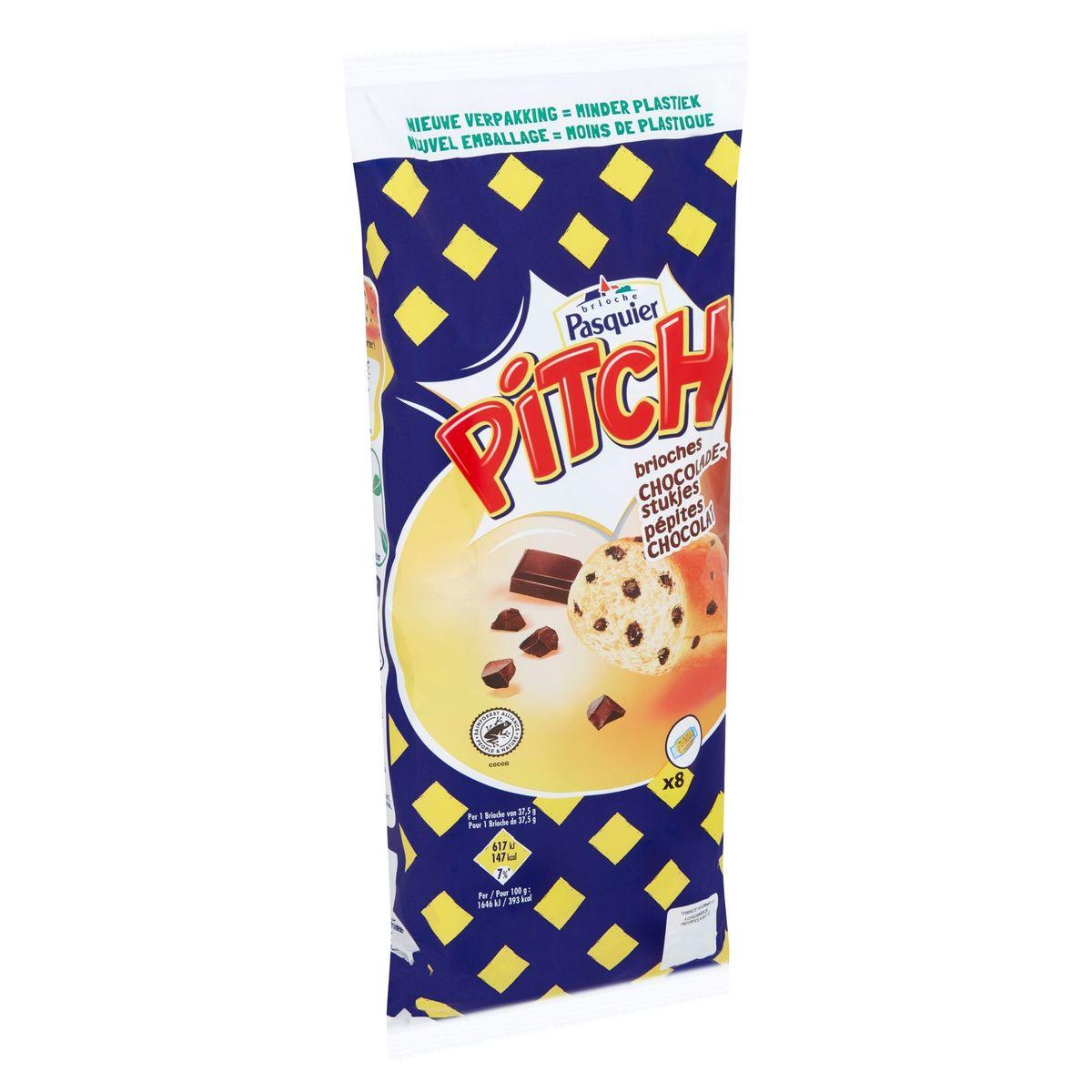 Brioche Pasquier Pitch Brioches Pépites Chocolat 8 x 37.5 g