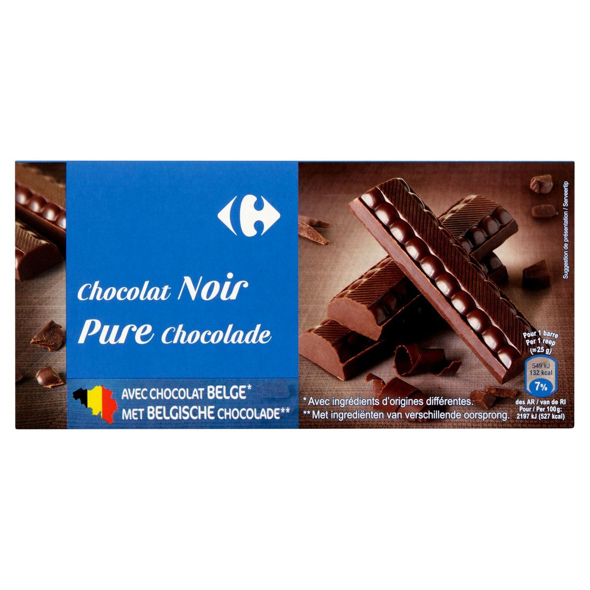 Carrefour Pure Chocolade 2 x 200 g