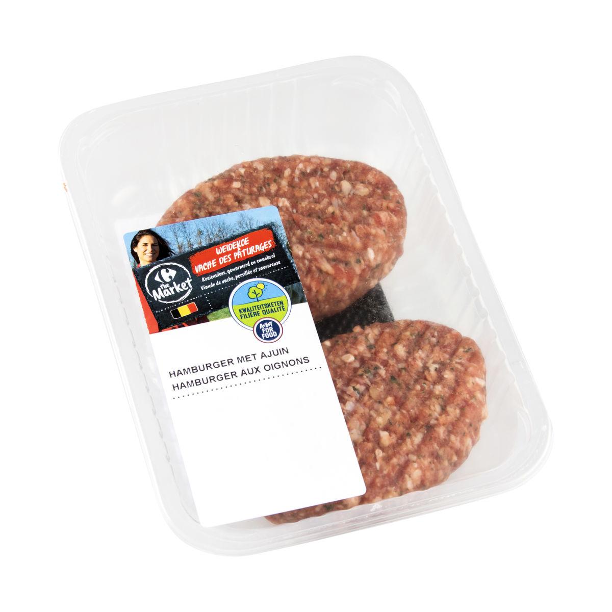 Carrefour FQC Hamburger Oignons Persil Vache des Pâturage