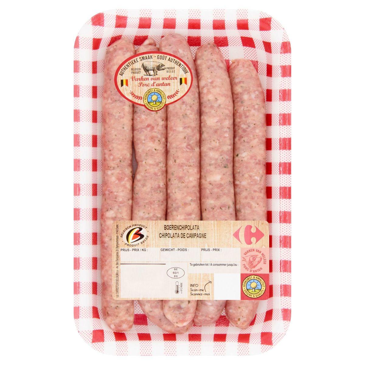 Carrefour Chipolata de Campagne 0.364 kg