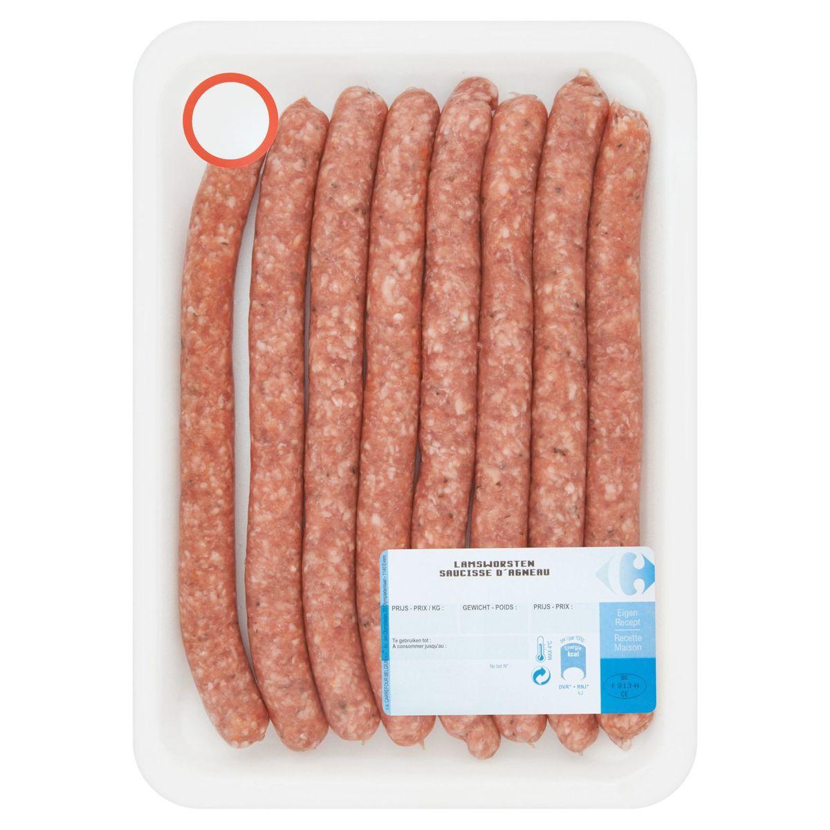 Carrefour Saucisse d'Agneau 0.400 kg