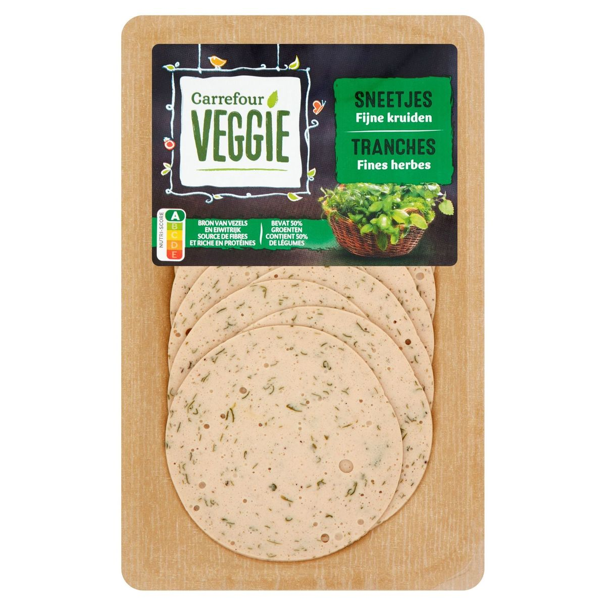 Carrefour Veggie Tranches Fines Herbes 100 g