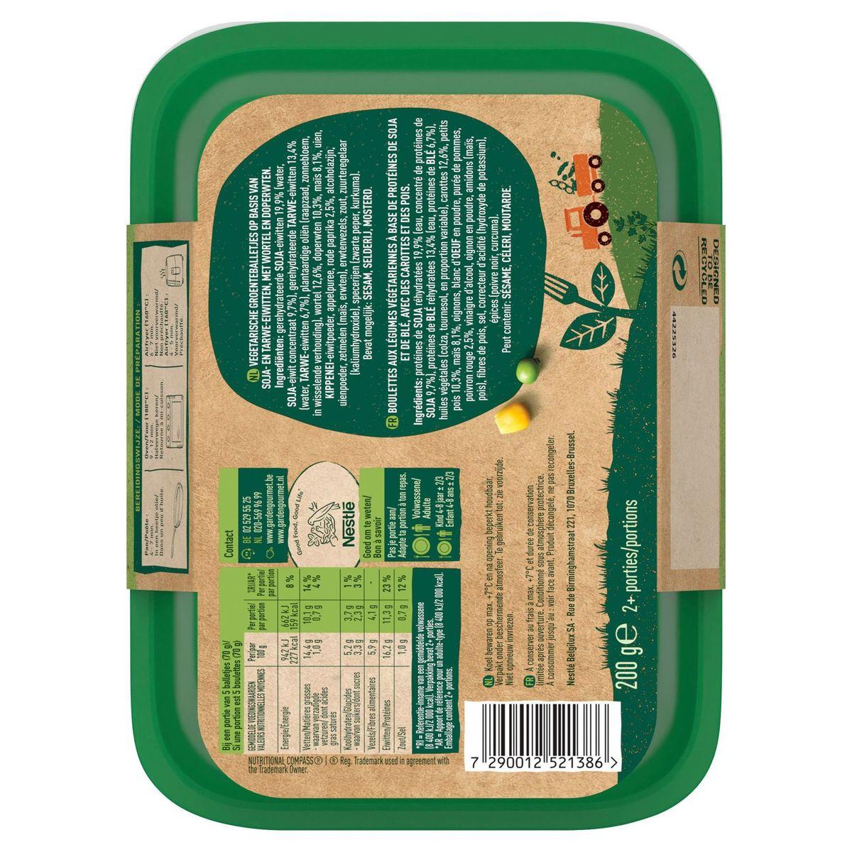 GARDEN GOURMET Vegetarische Groenteballetjes x14 200 g