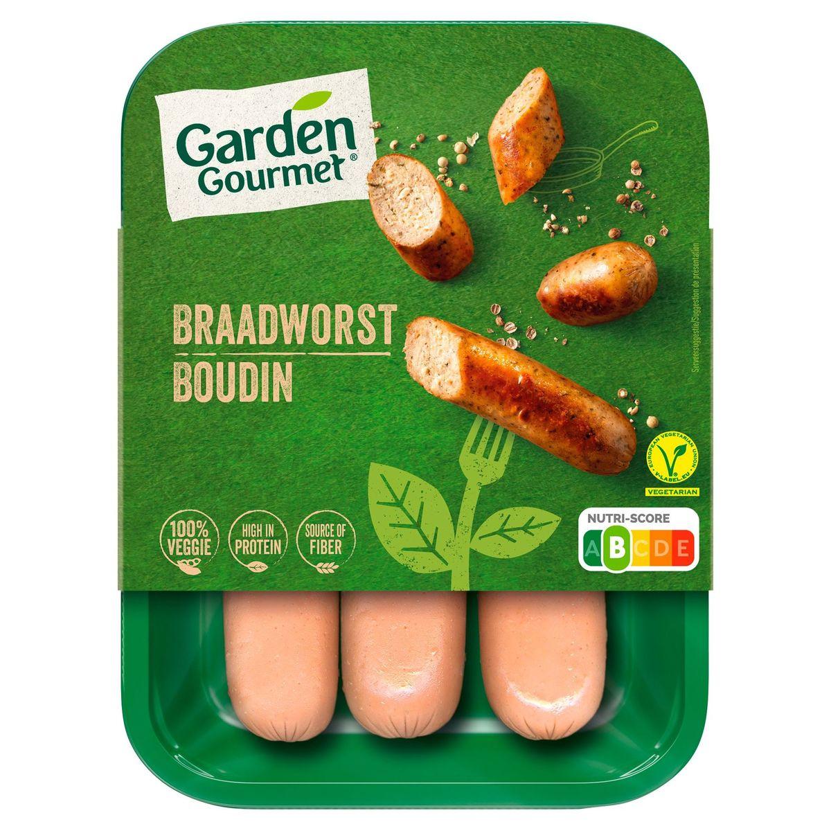 GARDEN GOURMET Boudins Végétariens x3 180 g