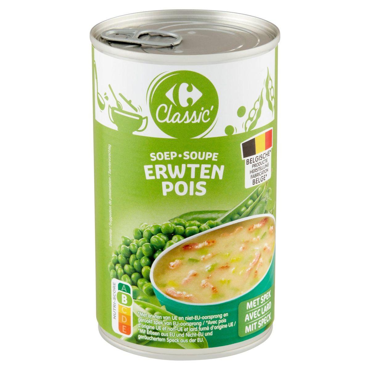 Carrefour Classic' Soep Erwten 460 ml