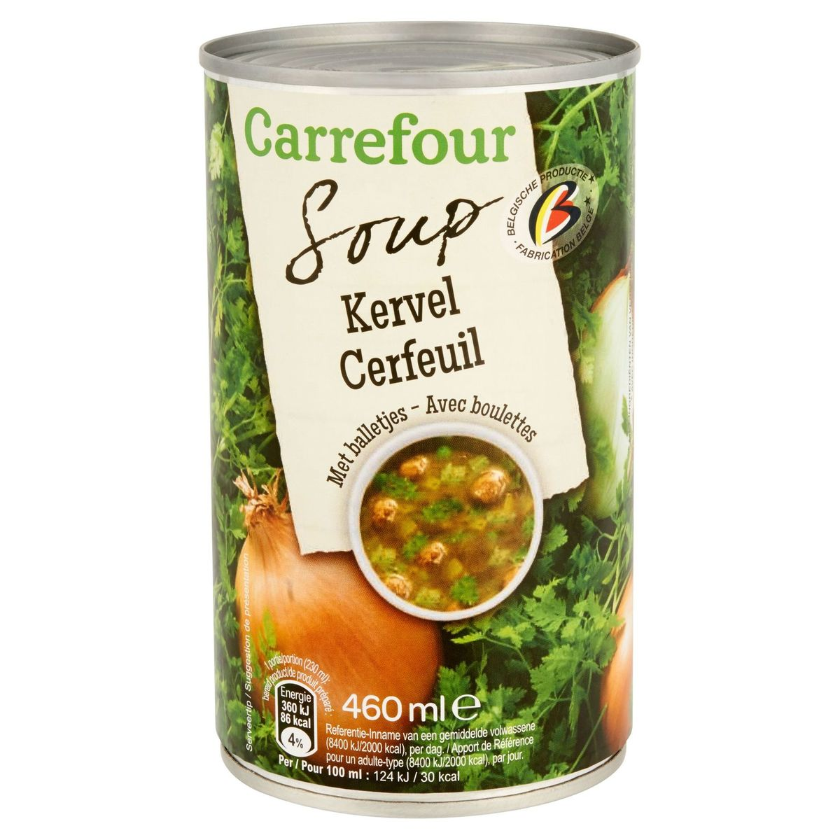 Carrefour Soup Cerfeuil avec Boulettes 460 ml