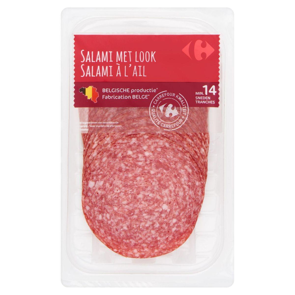 Carrefour Salami met Look 150 g