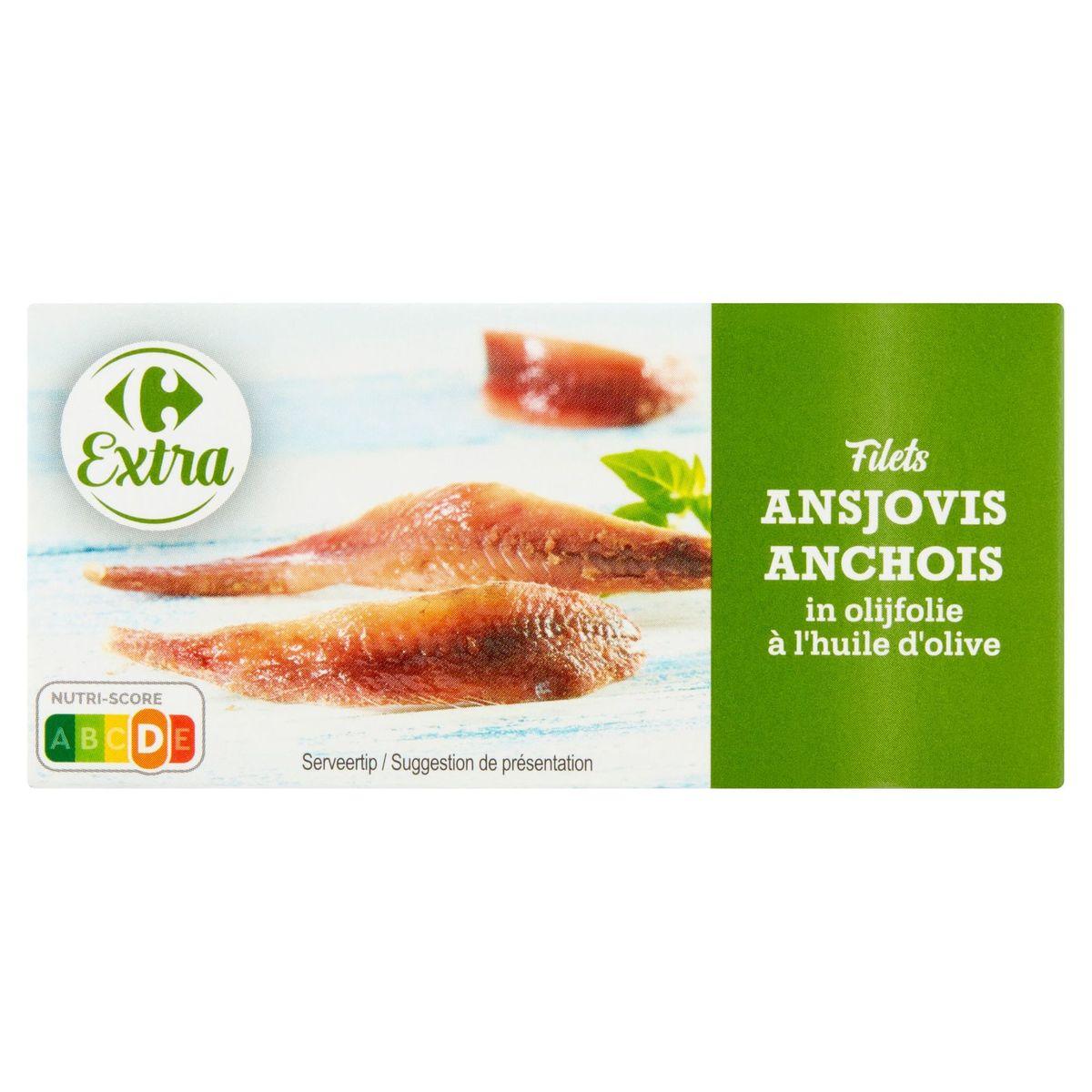 Carrefour Extra Filets Anchois à l'Huile d'Olive 50 g