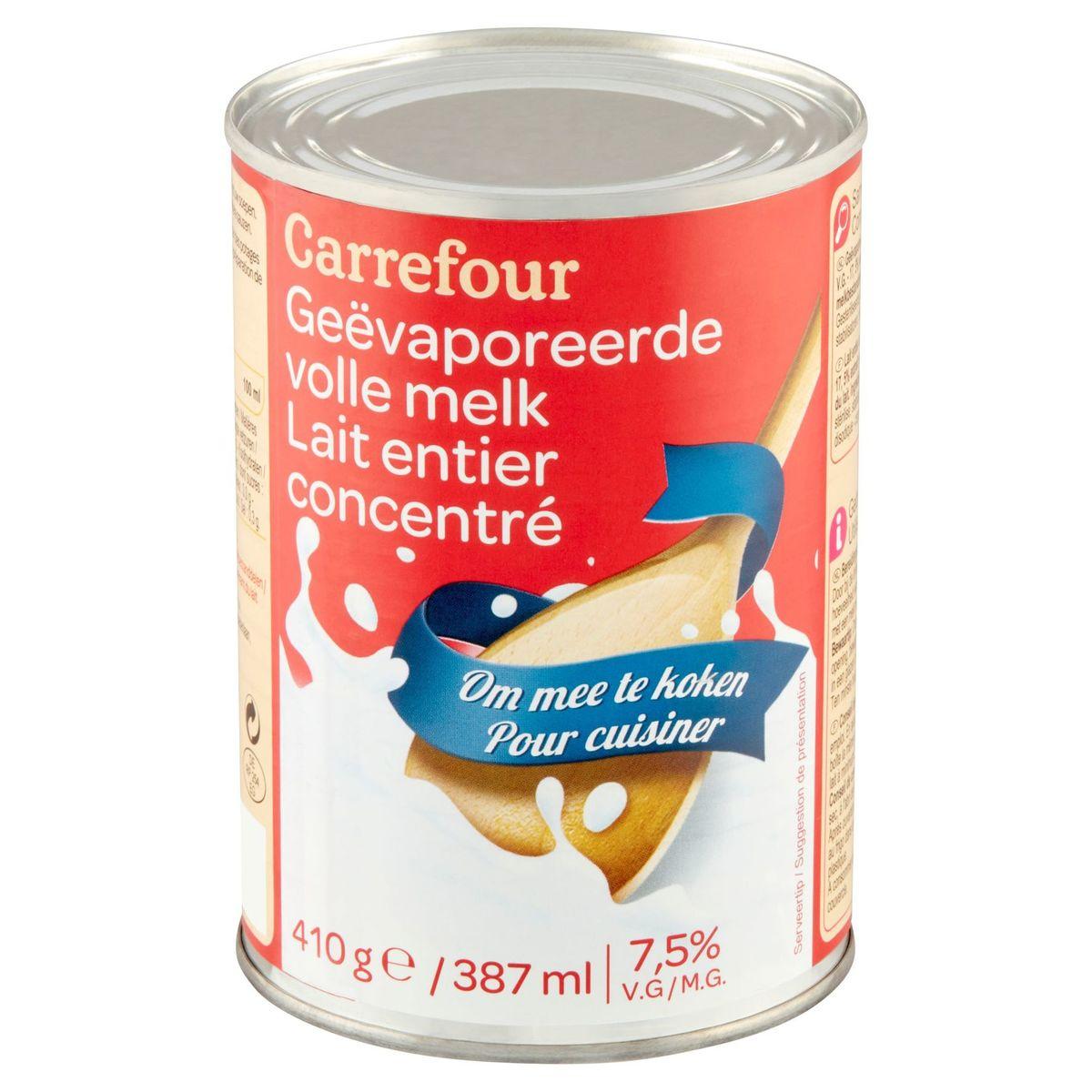 Carrefour Lait Entier Concentré 7.5% M.G. 387 ml