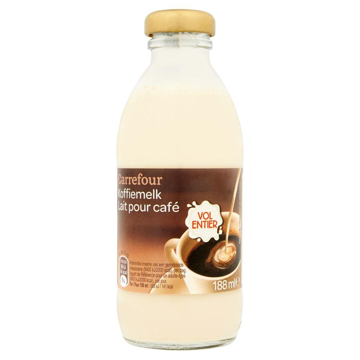 Carrefour Lait pour Café Entier 188 ml