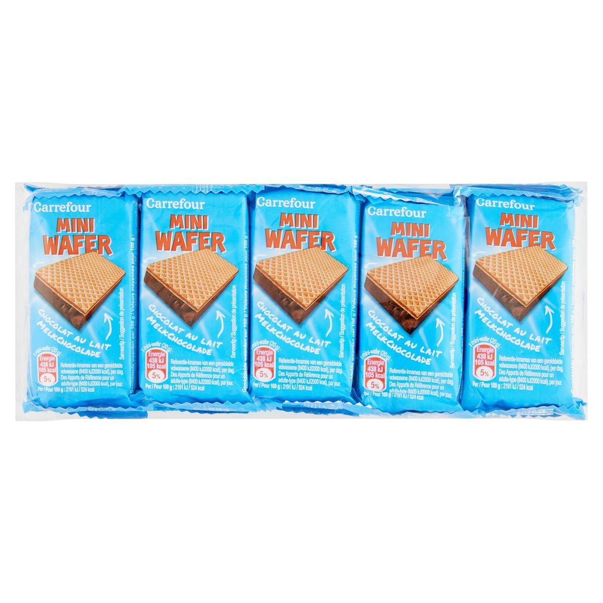 Carrefour Mini Wafer Chocolat au Lait 10 x 20 g
