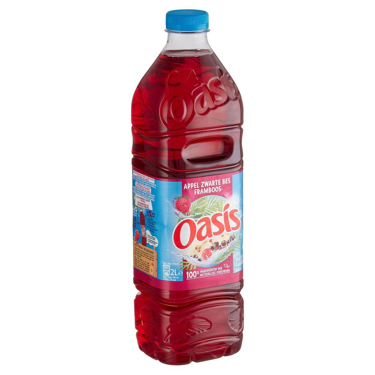 Oasis Appel Zwarte Bes Framboos 2 L
