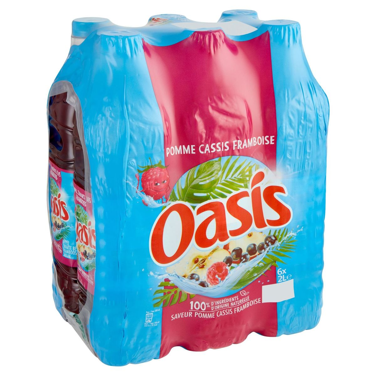 Oasis Appel Zwarte Bes Framboos Family Pack 6 x 2 L