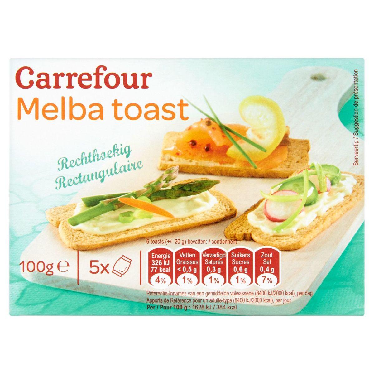 Carrefour Melba Toast Rectangulaire 5 Sachets 100 g